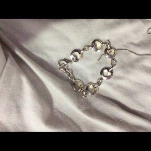 Boutique style heart bracelet